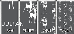 Deer Personalized Fabric / Custom Name Fabric