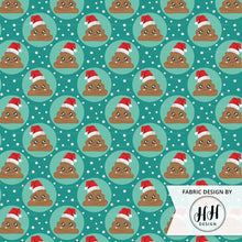 Load image into Gallery viewer, Santa Poop Emoji Fabric