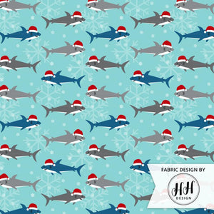 Christmas Shark Fabric