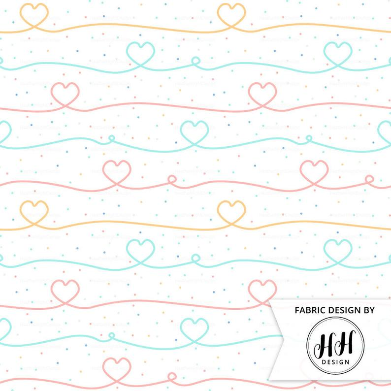Valentine Heart Loop Fabric