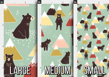 Load image into Gallery viewer, Bears and Mountains Fabric