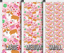 Load image into Gallery viewer, Christmas Corgi Fabric - Pink