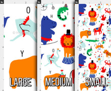Load image into Gallery viewer, Circus Animals Alphabet Fabric