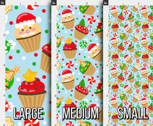 Load image into Gallery viewer, Christmas Cupcake Fabric