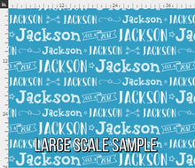 Load image into Gallery viewer, Boys Personalized Fabric / Custom Name Fabric