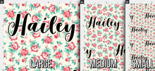 Load image into Gallery viewer, Floral Personalized Fabric / Custom Name Fabric