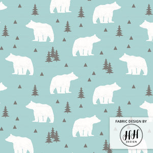 Woodland Bear Fabric