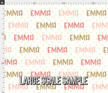 Load image into Gallery viewer, Glitter Pink Personalized Fabric / Custom Name Fabric