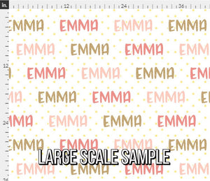 Glitter Pink Personalized Fabric / Custom Name Fabric
