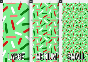 Christmas Donut Sprinkles Fabric
