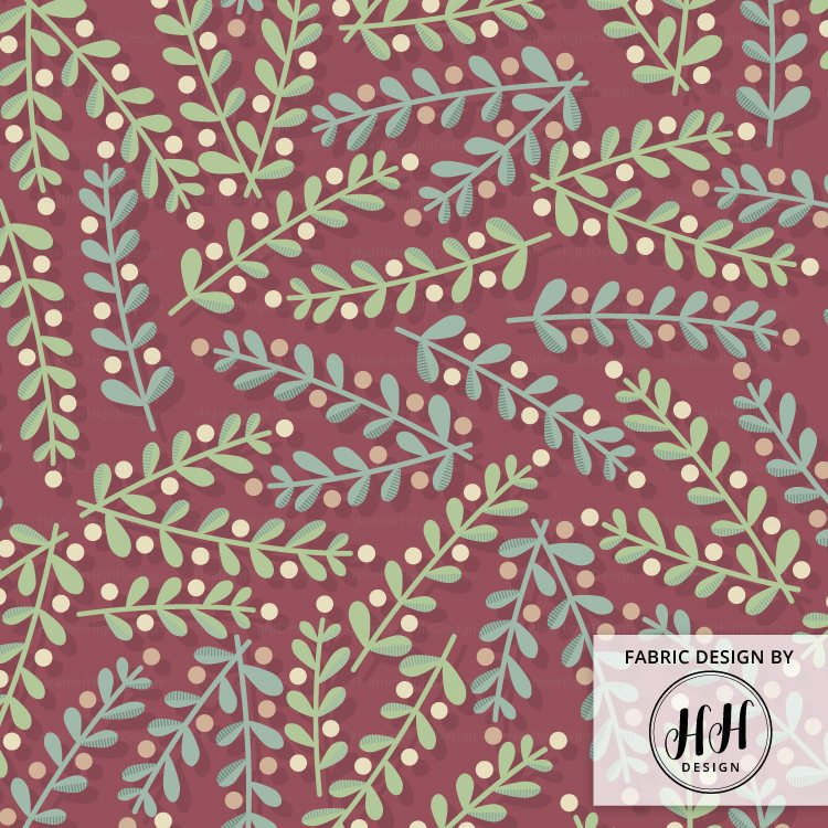 Merry Mistletoe Fabric