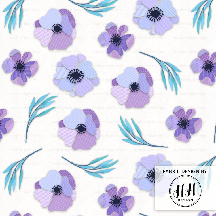 Paper Flower Fabric