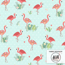 Load image into Gallery viewer, Flamingo Floral Fabric