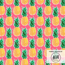 Load image into Gallery viewer, Tropical Pineapple Fabric
