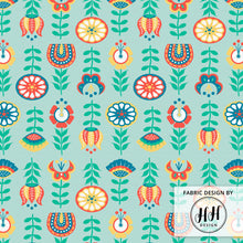 Load image into Gallery viewer, Swedish Folk Art Fabric
