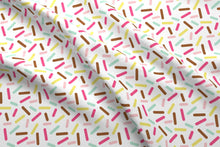 Load image into Gallery viewer, Donut Sprinkles Fabric - White