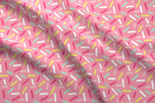 Load image into Gallery viewer, Pink Donut Sprinkles Fabric