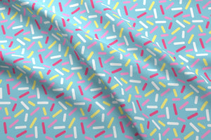Donut Sprinkles Fabric - Blue