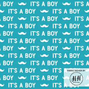 It's A Boy Fabric - Gender Reveal