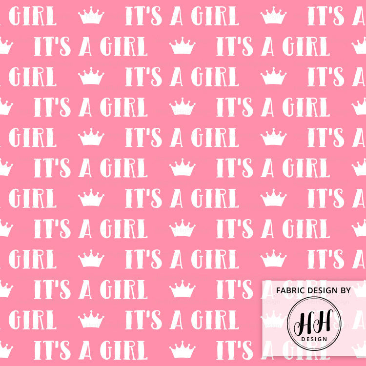 It's A Girl Fabric - Gender Reveal