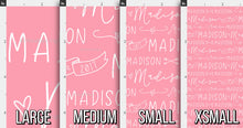 Load image into Gallery viewer, Hearts & Arrows Girls Personalized Fabric / Custom Name Fabric