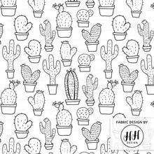 Load image into Gallery viewer, Cactus Fabric - Black & White