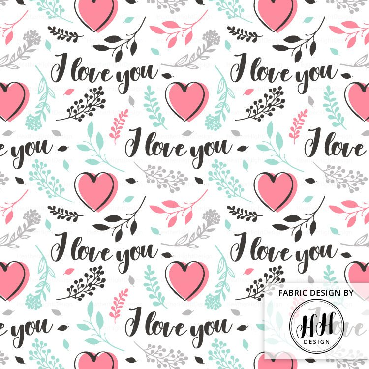 Valentines Love Fabric