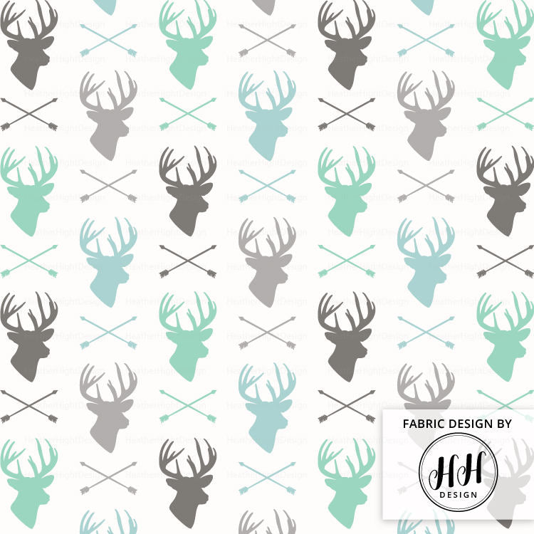 Deer and Arrow Fabric