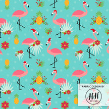 Load image into Gallery viewer, Flamingo Christmas Fabric