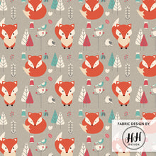 Load image into Gallery viewer, Winter Fox Fabric