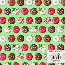 Load image into Gallery viewer, Christmas Donut Fabric