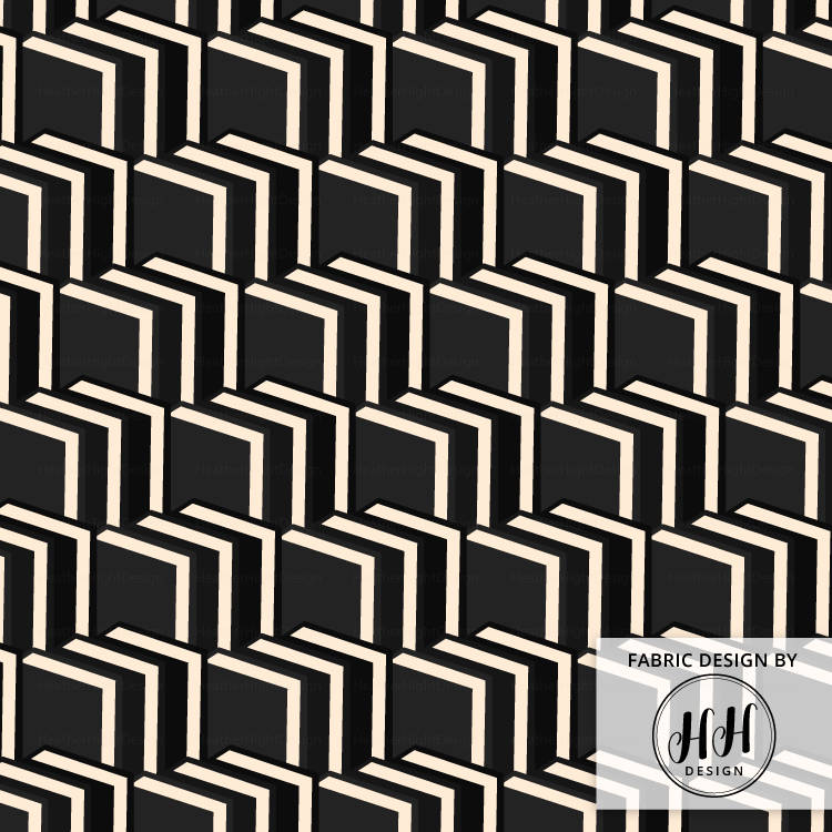 Book Chevron Fabric