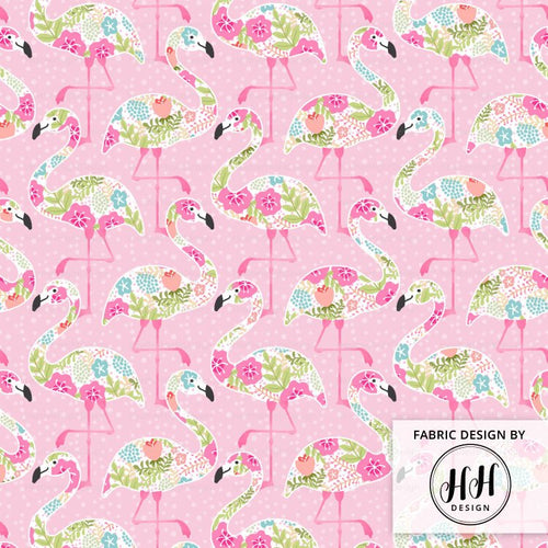 Floral Flamingo Fabric