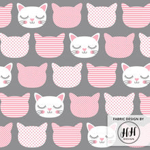 Load image into Gallery viewer, Cat Faces Fabric