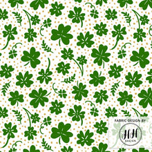 Load image into Gallery viewer, Clover Fabric - Green & Gold