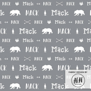 Woodland Personalized Fabric / Custom Name Fabric