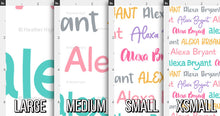 Load image into Gallery viewer, Colorful Girls Personalized Fabric / Custom Name Fabric