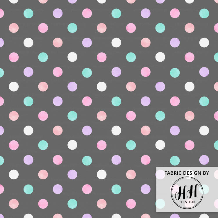 Watercolor Polka Dots Fabric