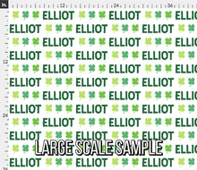 Load image into Gallery viewer, Lucky Personalized Fabric - St. Patrick's Clover / Custom Name Fabric