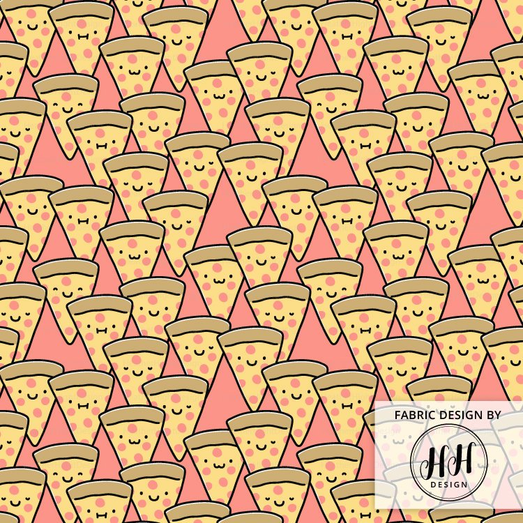 Pizza Cuties Fabric