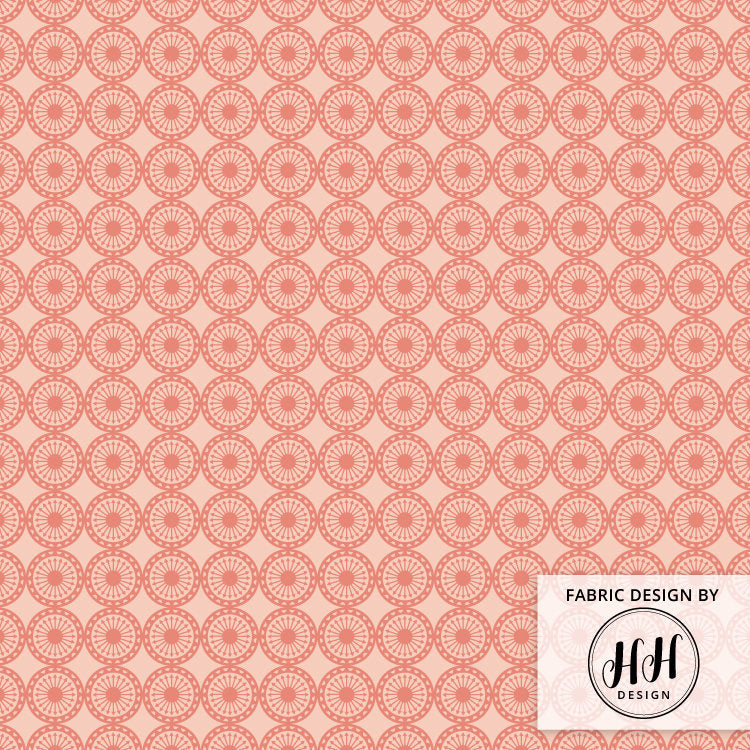 Dusty Rose Fabric - Geometric