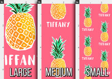 Load image into Gallery viewer, Pineapple Personalized Fabric / Custom Name Fabric