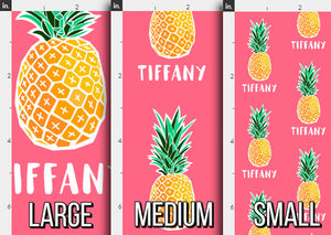 Pineapple Personalized Fabric / Custom Name Fabric