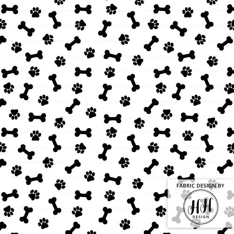 Paws and Bones Fabric
