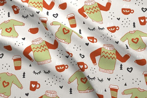 Sweaters and Coffee Fabric
