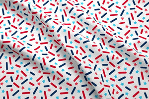 USA Donut Sprinkles Fabric