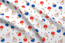 Load image into Gallery viewer, 4th of July Ice Cream Fabric