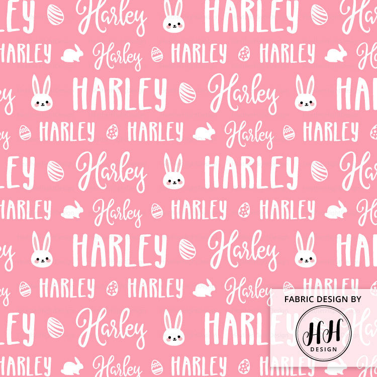 Easter Personalized Fabric / Custom Name Fabric