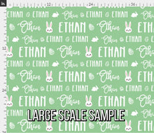 Load image into Gallery viewer, Easter Personalized Fabric / Custom Name Fabric