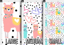 Load image into Gallery viewer, Llama Love Fabric